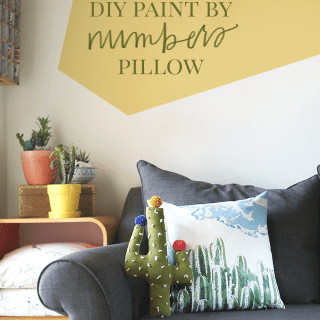 Cactus DIY Paint by Numbers Pillow + Freebie – How To-sday