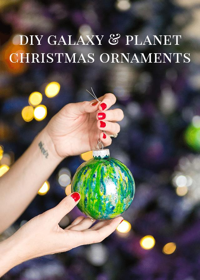 Easy DIY Galaxy and Planet Christmas Ornaments