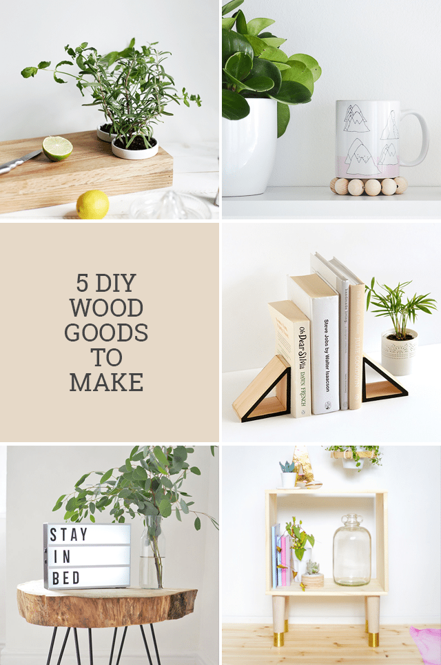 5 DIY Wood Projects to Make for Your Home