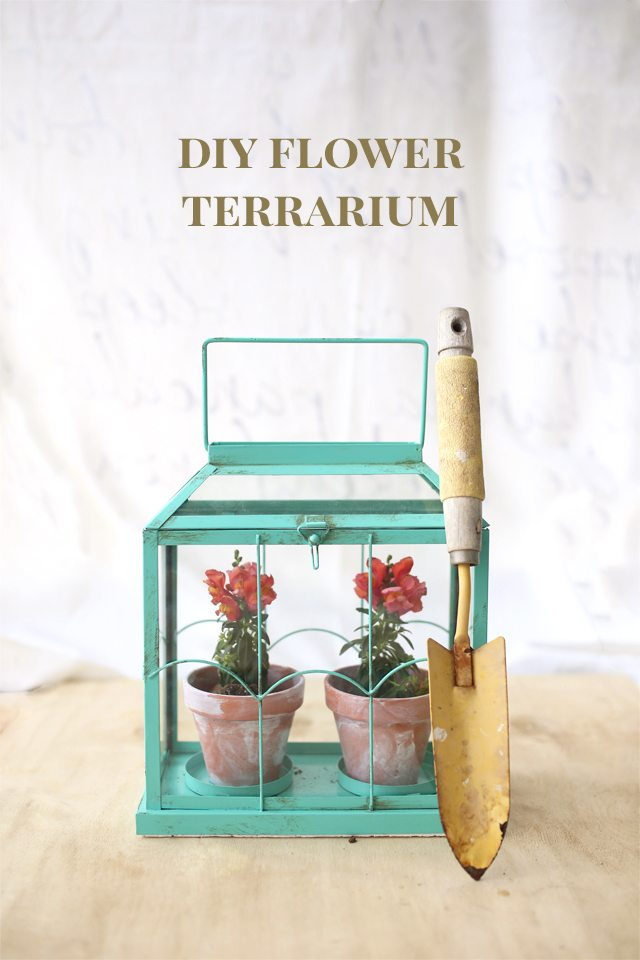 Easy DIY Flower Terrarium - Make a Miniature Greenhouse Made from a Candle Holder - DIY