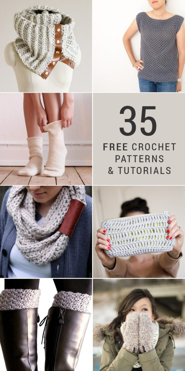 35 Free DIY Crochet Patterns and Tutorials