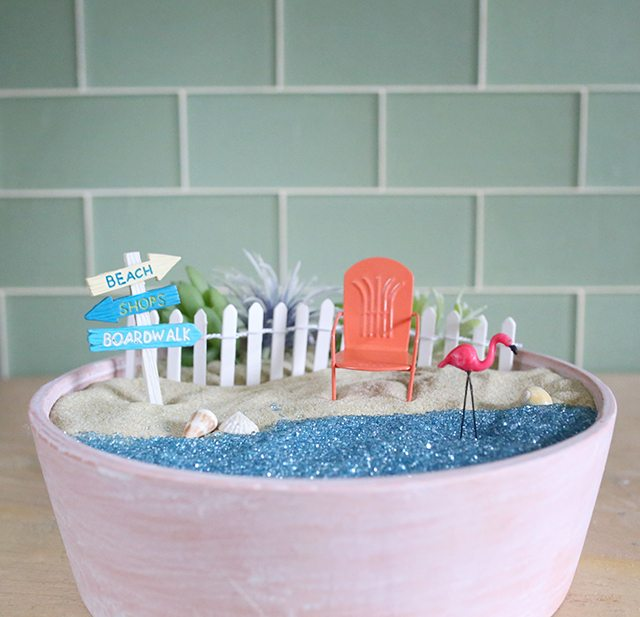 DIY Beach Fairy Garden Tutorial