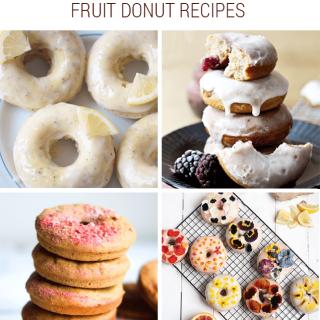 [Sort of] Healthy Fruit Donut Recipe Roundup