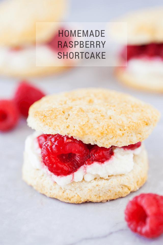 Homemade Raspberry Shortcake Recipe from Scratch
