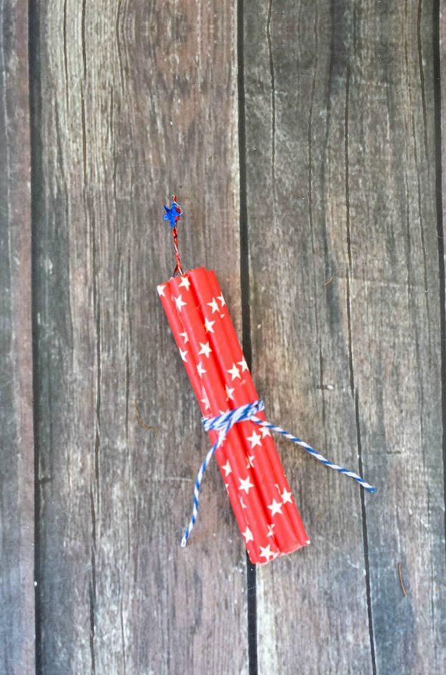 DIY Firecracker Magnet Fourth of July Crafts