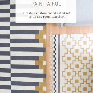 How to Paint a Rug to Make a Coordinating Set – IKEA Hack