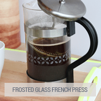 IKEA Hack - Frosted Glass French Press