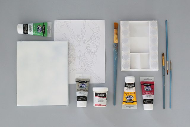 How to Turn a Photo into Paint by Numbers - Supplies