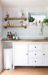 IKEA Hacks - DIY Bar Cabinet & Kitchenette - Shrimp Salad ...