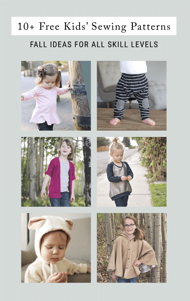 10 Free Sewing Patterns for Kids for Fall