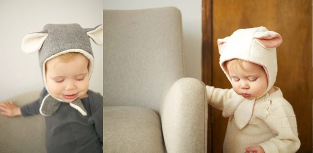 Free Fall Sewing Patterns for Kids for Fall - Lamb Ear Baby Bonnet