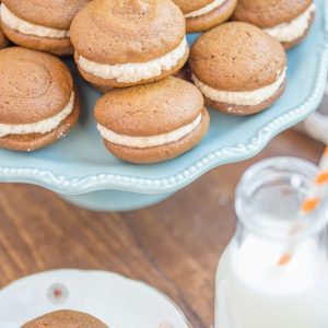 Pumpkin Whoopie Pie Recipe With Maple Spice Whipped Cream