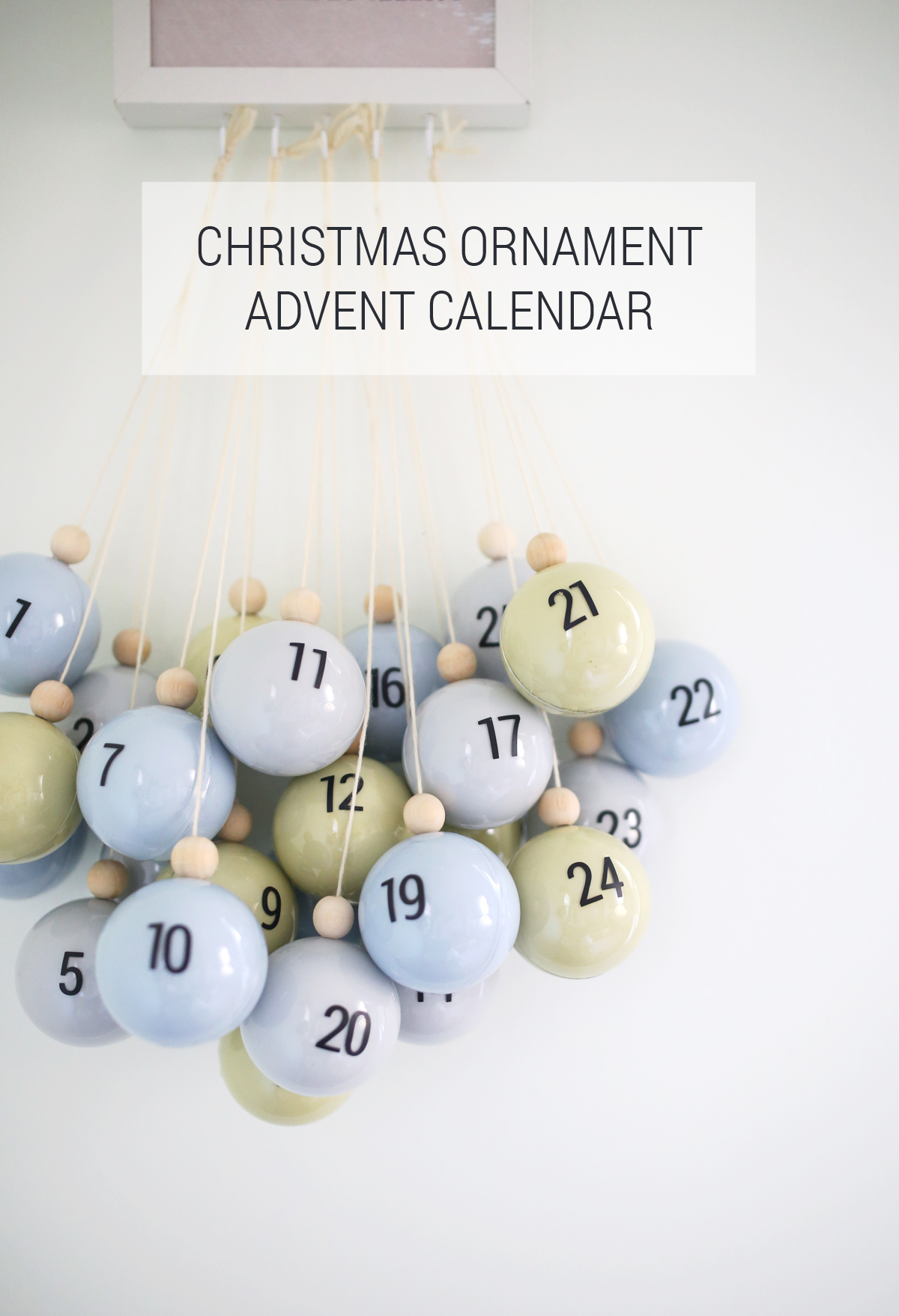 DIY Christmas Ornament Advent Calendar