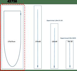 Porte zippée en U Réf. 42726 - (175 × 75 cm)