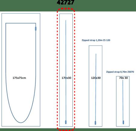 Porte zippée Réf. 42727 - (170 × 30 cm)