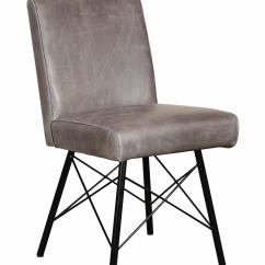 Barton Chair Accessories European Covers Grey Aniline Leather Dining With Industrial