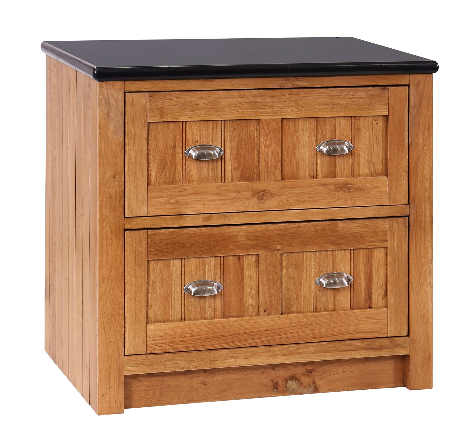 Evelyn Oak Pan Drawer Unit With Granite Top 112377