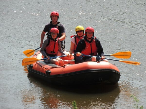 Guided raft trips