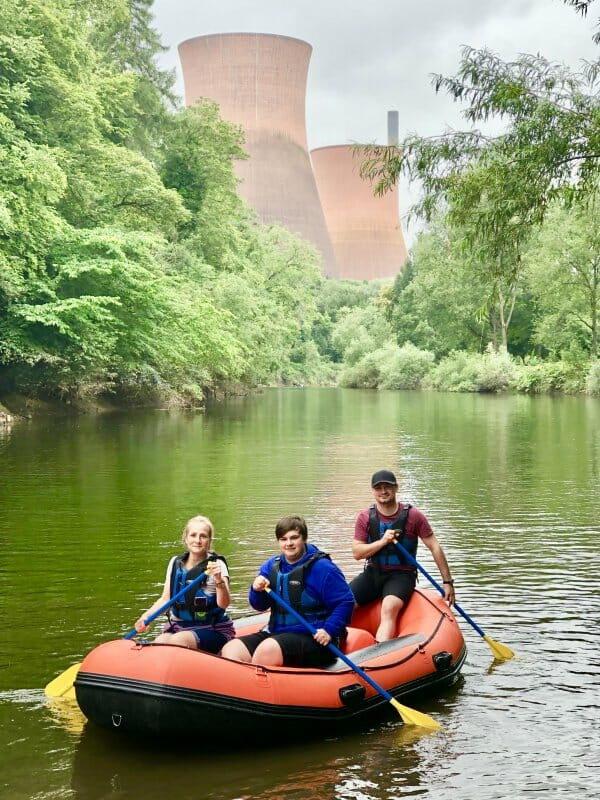 mini raft hire for families