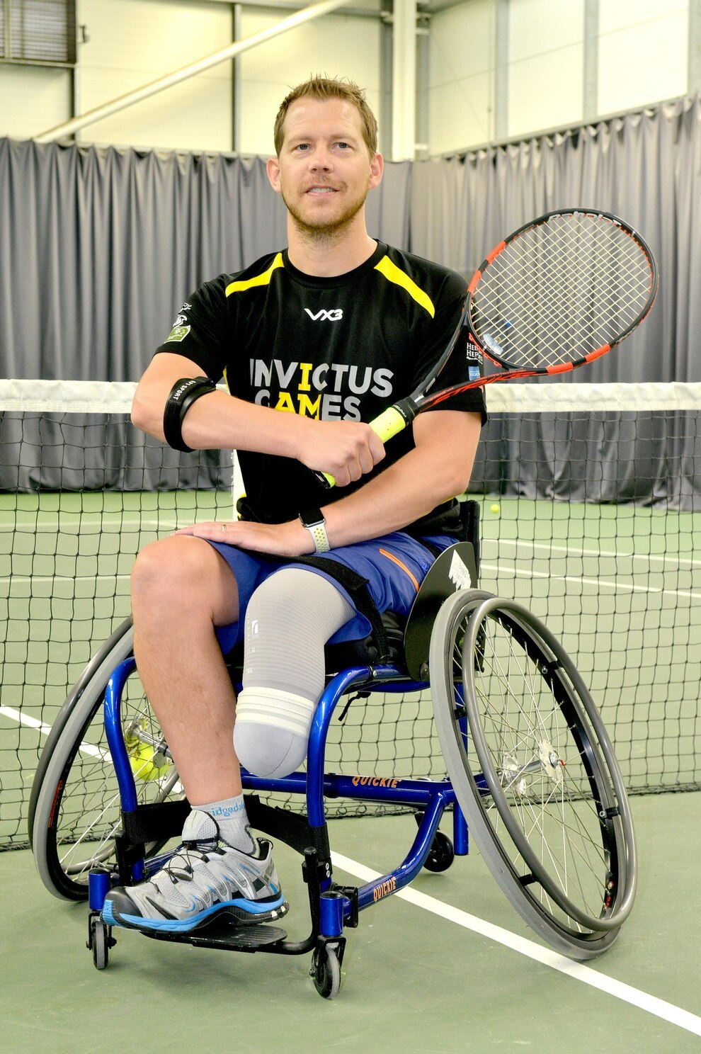 wheelchair drake yellow lounge chair shrewsbury sergeant kevin excited to represent country at in training for the invictus games