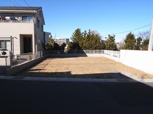 川口の白い家の敷地調査