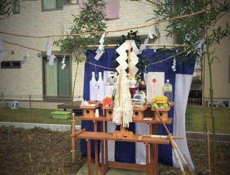 茨城県取手市で着工する住宅の地鎮祭です
