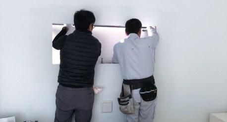 印旛のスタジオのメンテナンス工事を開始しました
