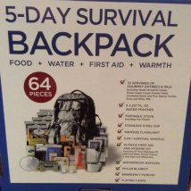 Wise Five Day Emergency Survival Kit with Food & Water for One Person - Camo