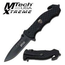 MTECH XTREME RESCUE PLAIN BLADE FOLDING POCKET KNIFE