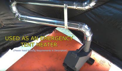 Bullet Proof Rocket Stoves 50 BMG Tent heater