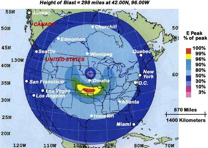 EMP effect on the lower 48 states