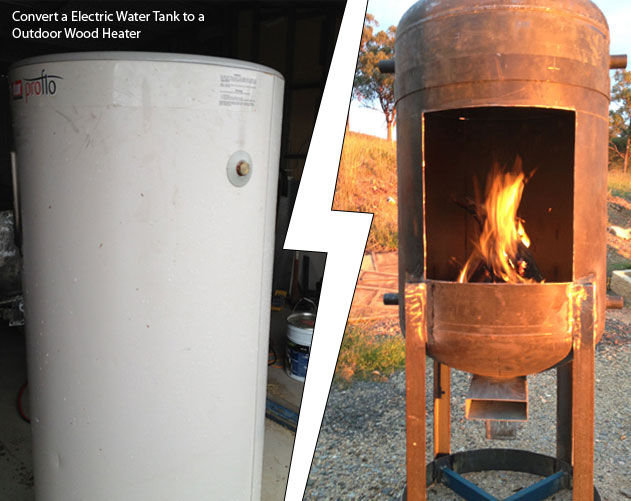 DIY Electric Water Tank To A Outdoor Wood Heater