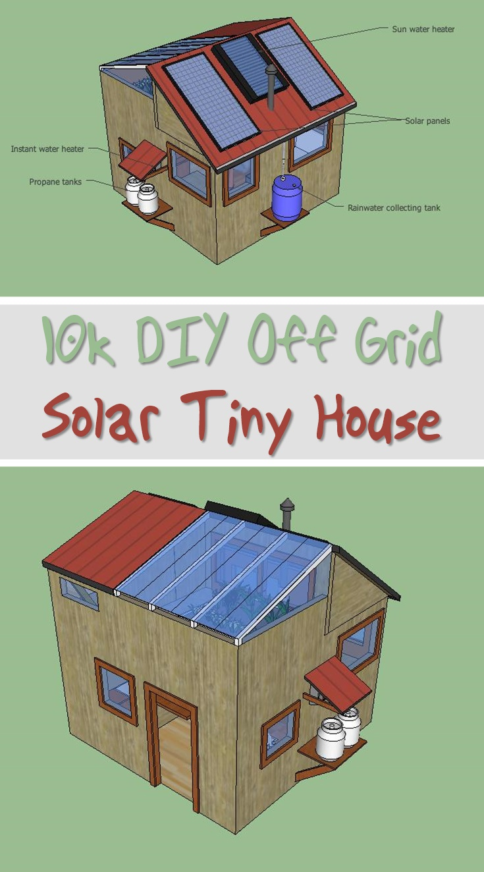 10k DIY Off Grid Solar Tiny House  SHTF Prepping  Homesteading Central