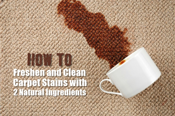 How To Freshen and Clean Carpet Stains with 2 Natural