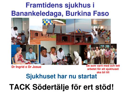 Burkina framtidens sjukhus 131230