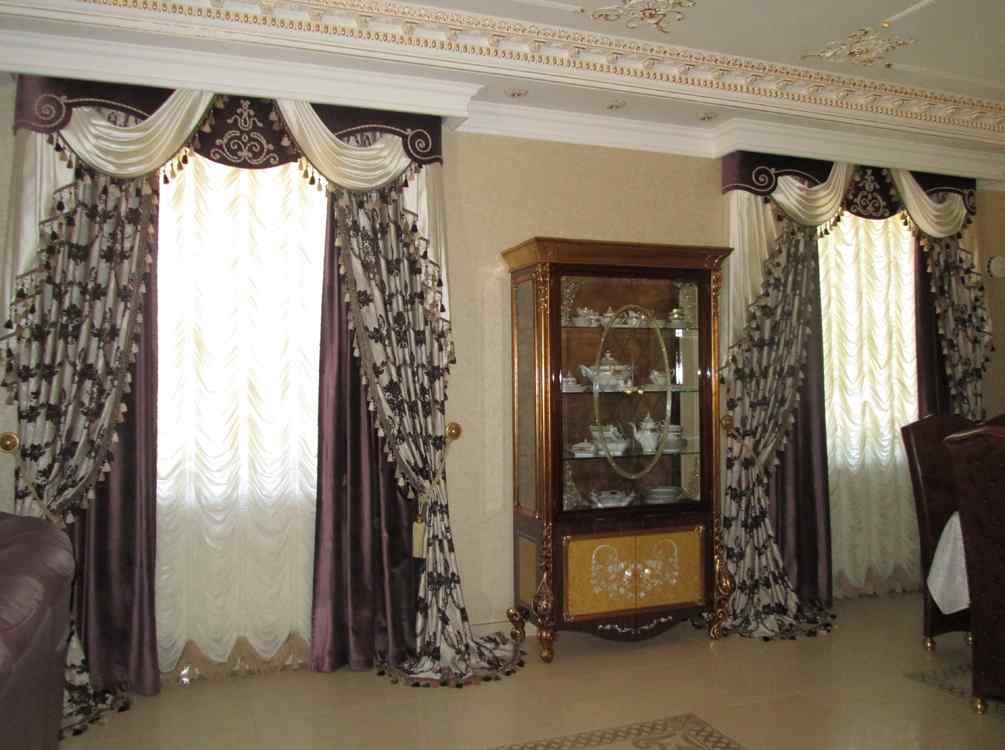 дизайн штор фото для зала 3