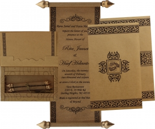 Scroll Wedding Cards Invitations