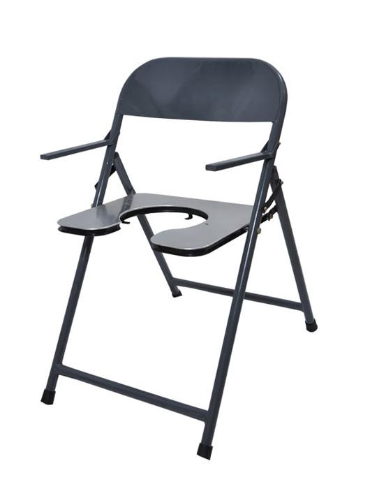 folding chair in rajkot blue cushions air cum commode seating invalid wheel hospital
