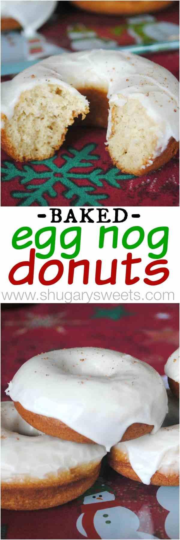 Eggnog Donuts Baked - Shugary Sweets