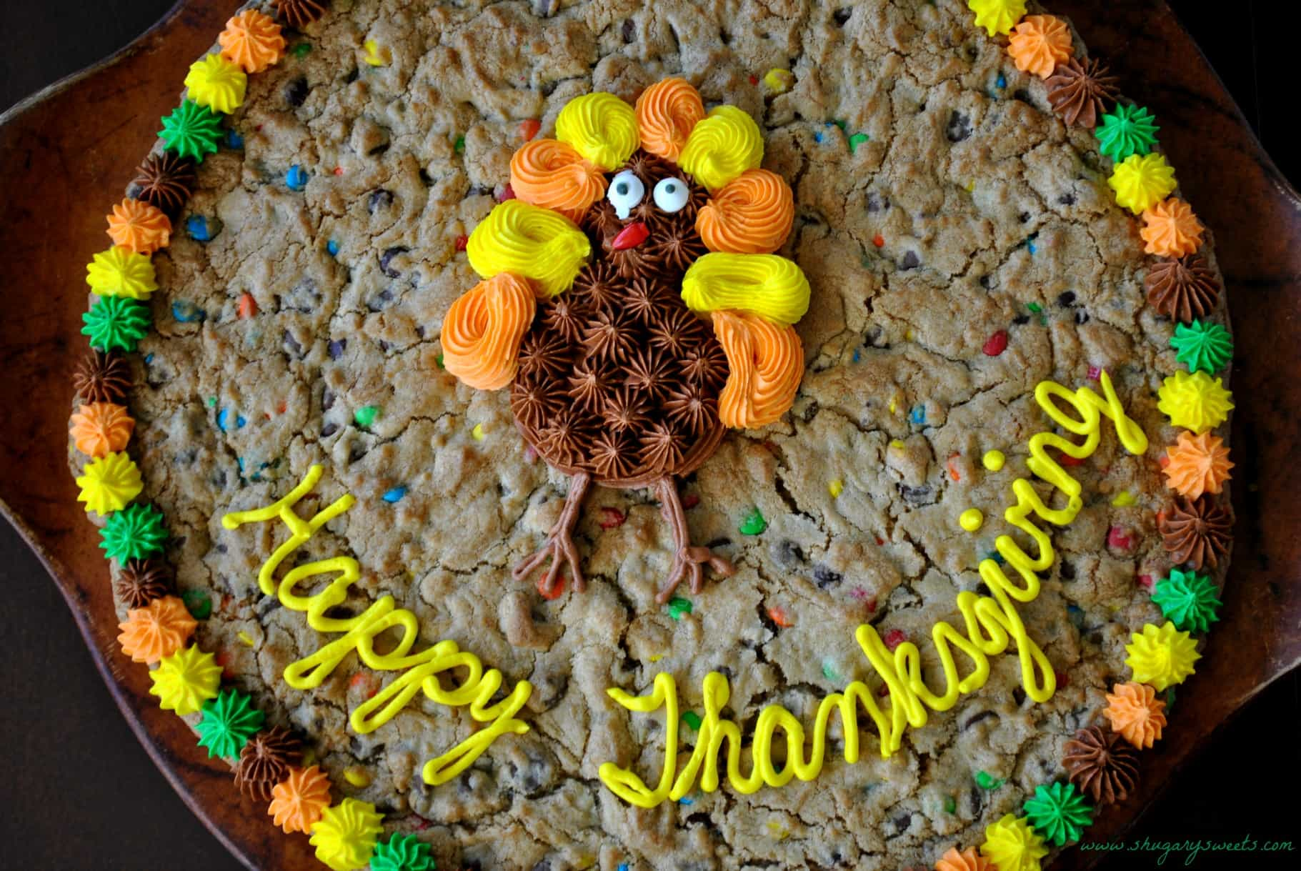 Thanksgiving Cookie Cake And A Turkey Day Roundup