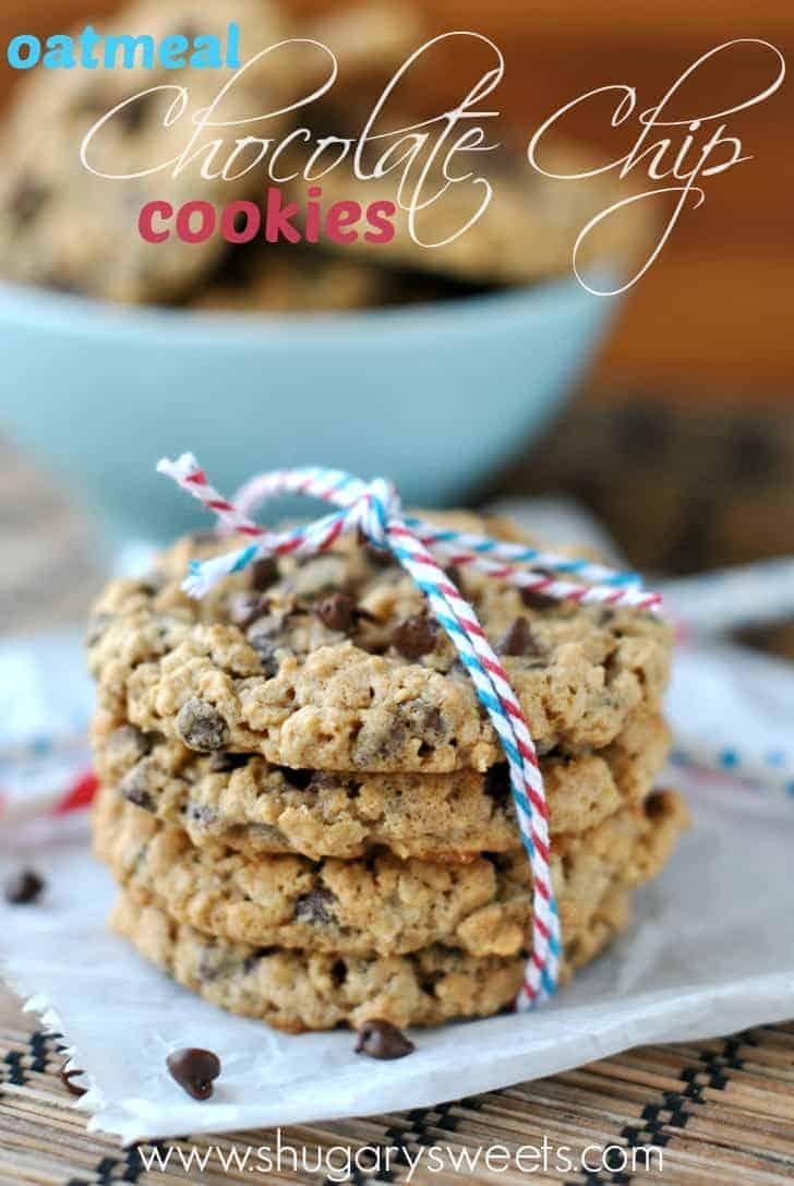 Oatmeal Chocolate Chip Cookies Shugary Sweets