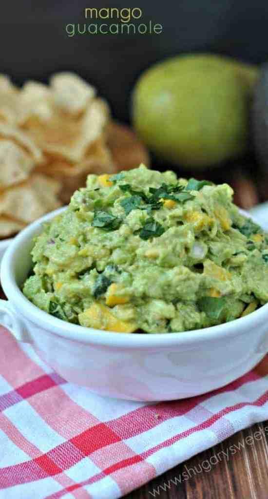 mango guacamole | Game Day Snacks