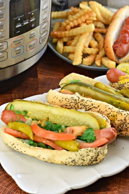 instant pot chicago style hot dogs recipe