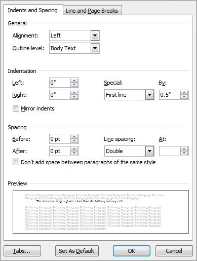 novel manuscript format