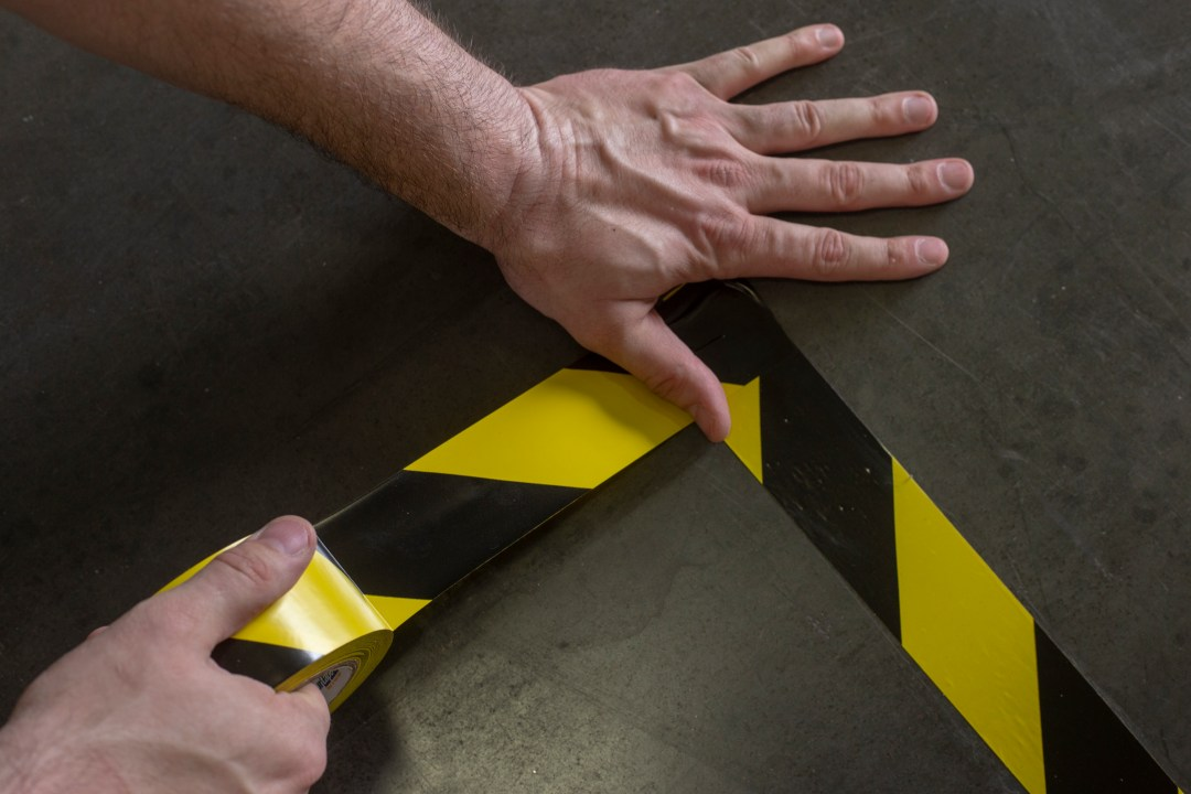 Floor Marking Tape for Social Distancing Lanes 1