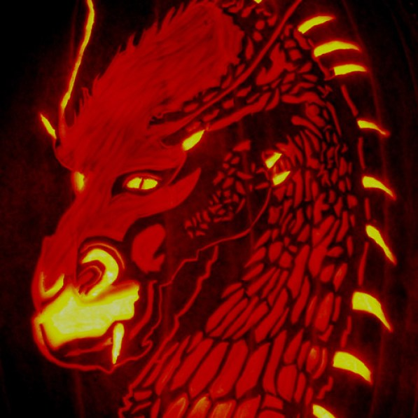 saphira pumpkin carved