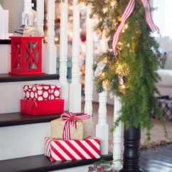 Christmas Decorating Ideas For Small Living Rooms Beautiful In Nigeria 100 Easy Decoration Photos Shutterfly One Idea Is To Place Wrapped Gifts On The Stairs