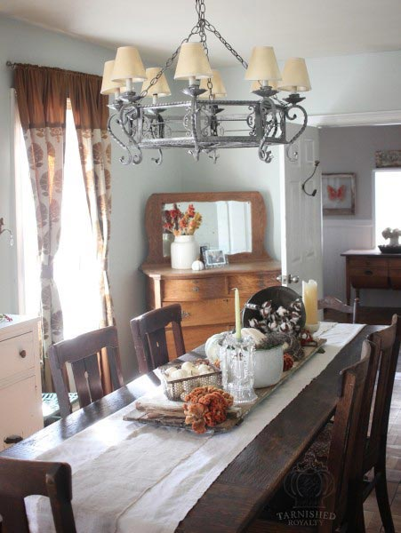 country decorating ideas for living rooms room two loveseats 75 rustic every and that classic look this dining table features linen burlap runners with a wire basket of eggs crystal candles