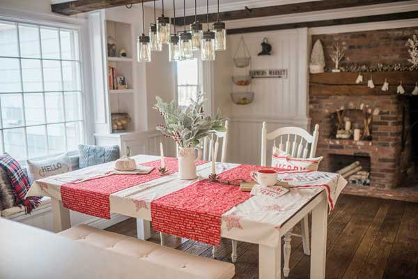 living room interior design ideas with dining table formal setup 100 decoration photos shutterfly try incorporating some color in your decor like this fantastic mix of whites and reds each compliments rustic old fireplace