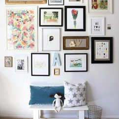 Frames For Living Room Walls Red And Brown Rugs 85 Creative Gallery Wall Ideas Photos 2019 Shutterfly If You Re Looking A Girl S Bedroom Try Using Bright Illustrations To Create Colorful Display